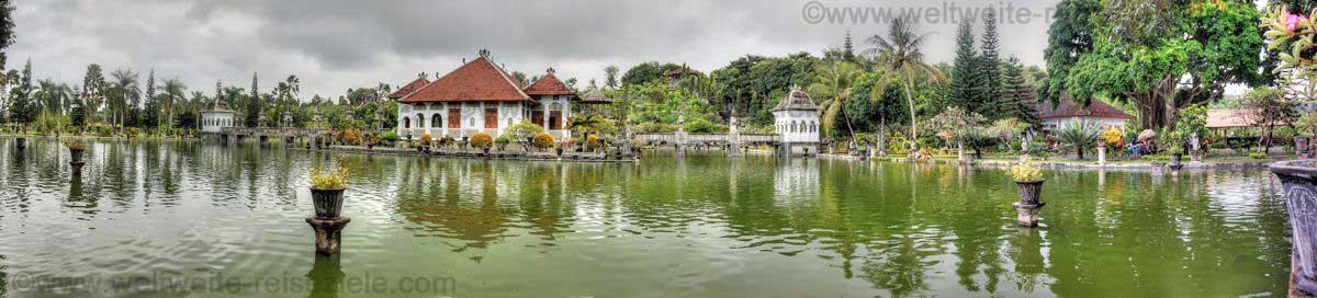 Wasserpalast Puri Taman Ujung, in Ostbali