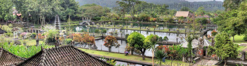 Bild: Ausblick über den Wasserpalast von Tirtagangga, Ostbali