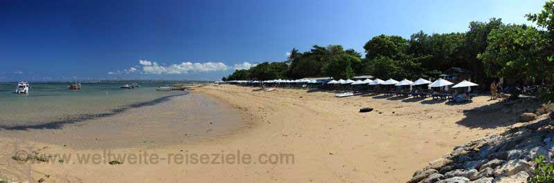 Strand im südlichen Bereich von Sanur