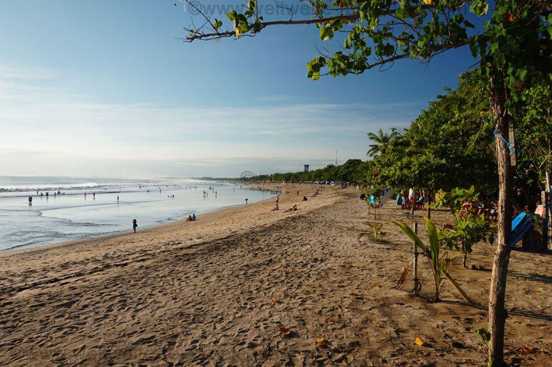Der nördliche Teil vom Strand von Kuta, Bali Südwesten