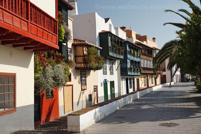 Sehenswürdigkeit Strasse der Balkone, Santa Cruz de La Palma