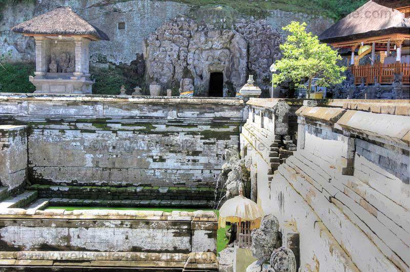 Tempelbereich, Goa Gajah mit alten Badeanlagen