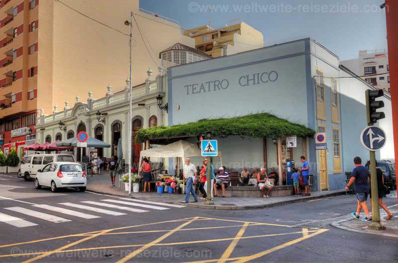 Sehenswürdigkeit Theatro Chico und Markthalle von Santa Cruz de La Palma