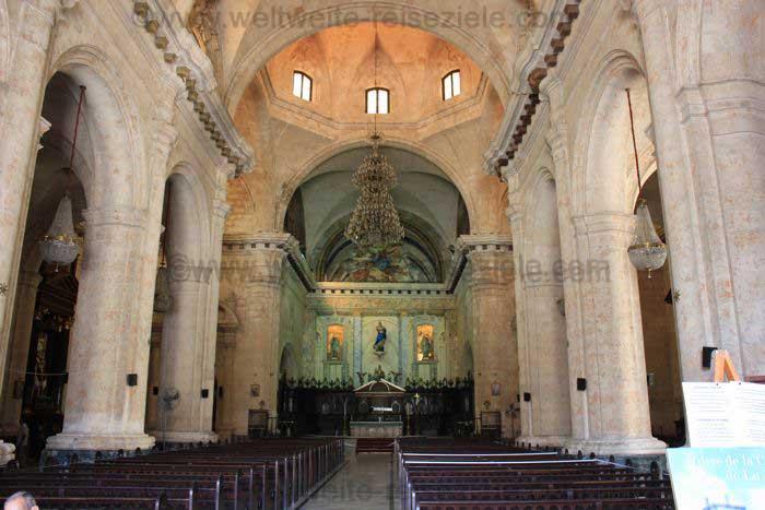 Kathedrale von Havanna, Innenansicht