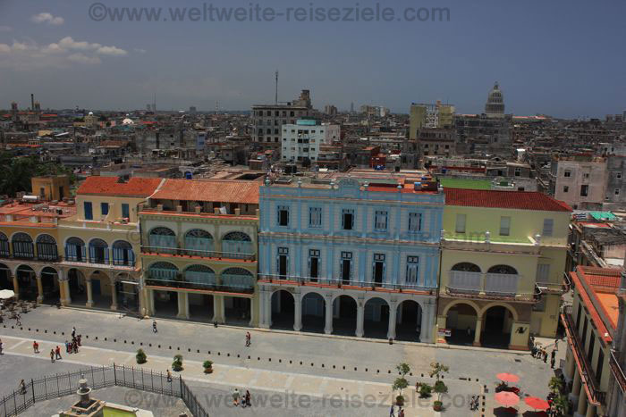 Ausblick auf den Platz von San Francisco, Havanna, von oben
