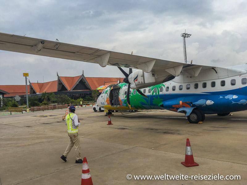 ATR 72 von Bangkok Airways am Flughafen von Siem Reap