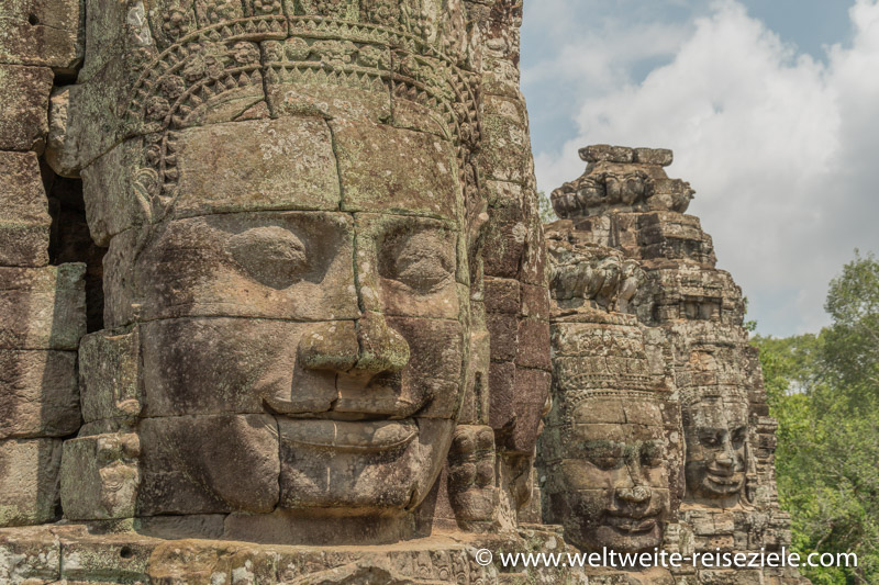 Gesichter der Bayon im Angkor Thom Tempel