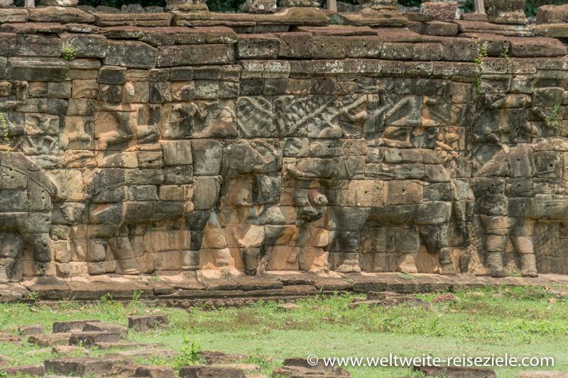 Terrasse der Elefanten, Vietnam, Angkor