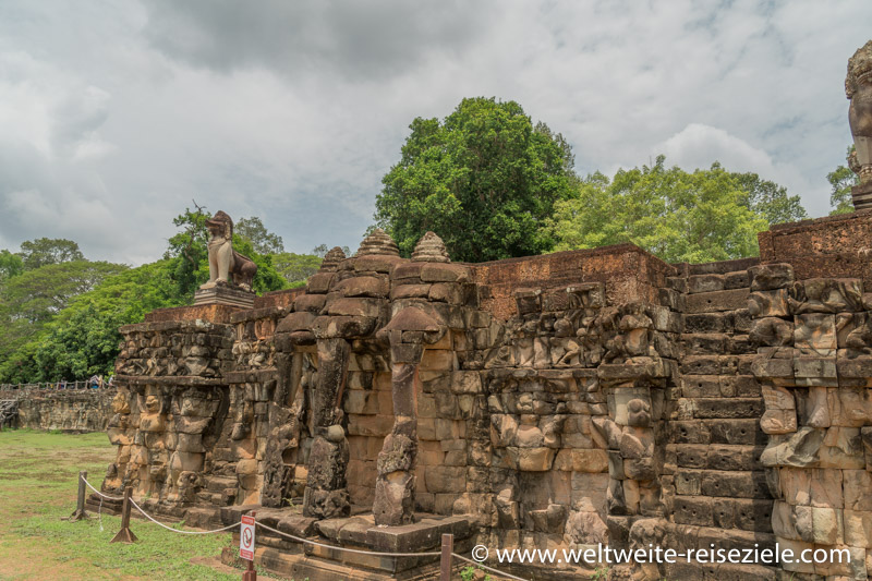 Elefantenterrasse Angkor Thom, Vietnam