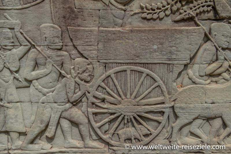 Versorgungswagen in einer Mauer Angkor Vietnam