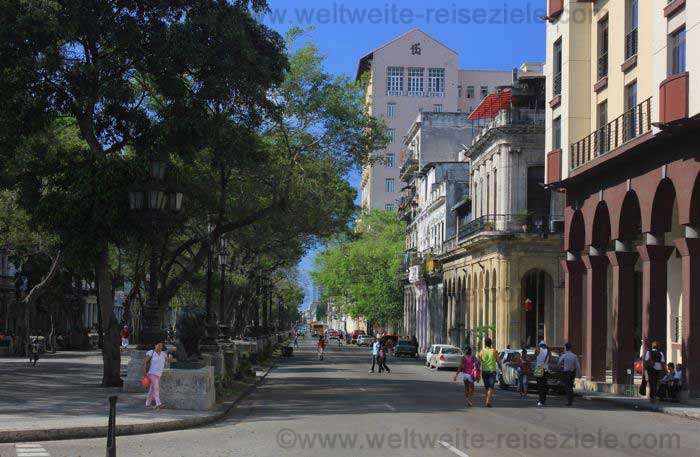 Prado von Havanna Richtung Meer