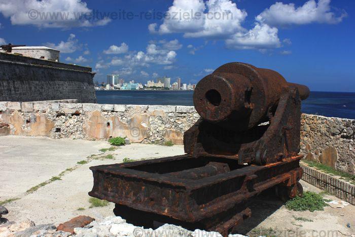Kanone Festung El Morro Havannna