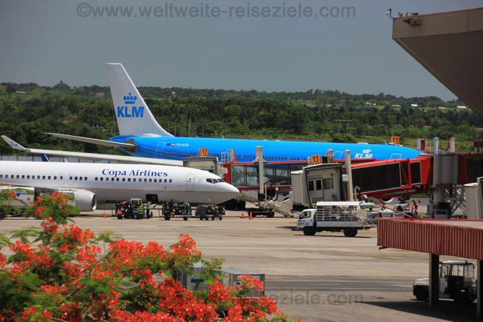 KLM am Flughafen von Havanna
