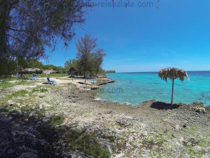 Tauch und Schnorchelrevier am Meer gegenüber Cueva de los Peces, Kuba