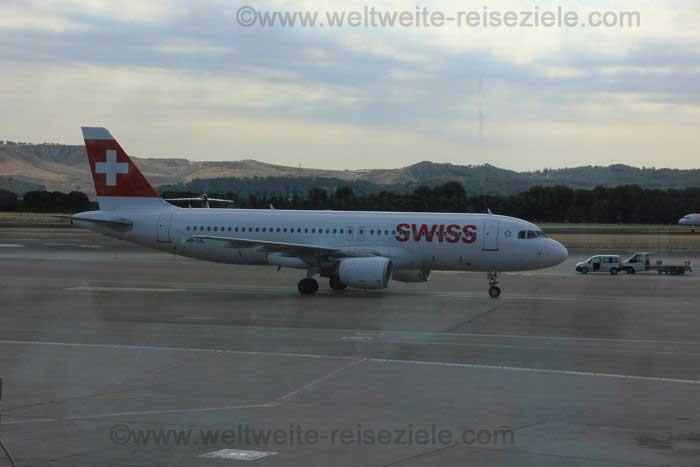 Auch die Swiss Air bietet Flüge nach Kuba