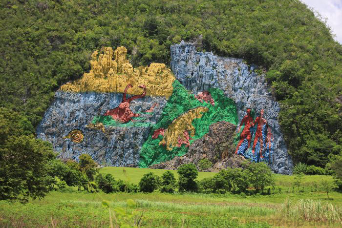 Mural de la Prehistoria, Vinales, Kuba