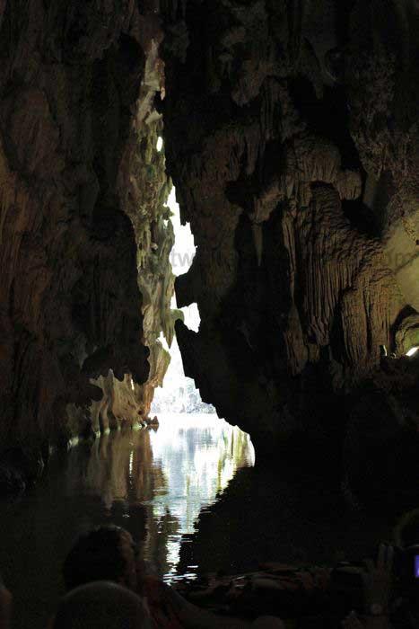 Bootsfahrt zum Höhlenausgang der Höhle del Indio