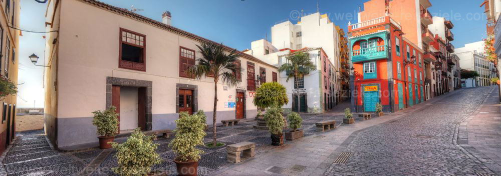 Platz Placeta de Borrero, eine der Sehenswürdigkeiten von Santa Cruz de la Palma