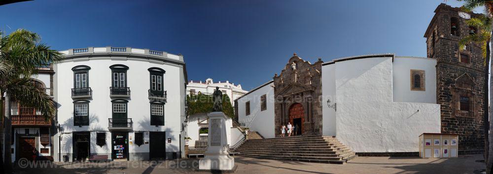 Kirche und Kirchplatz, Plaza de España, Iglesia de El Salvado, Santa Cruz de la Palma