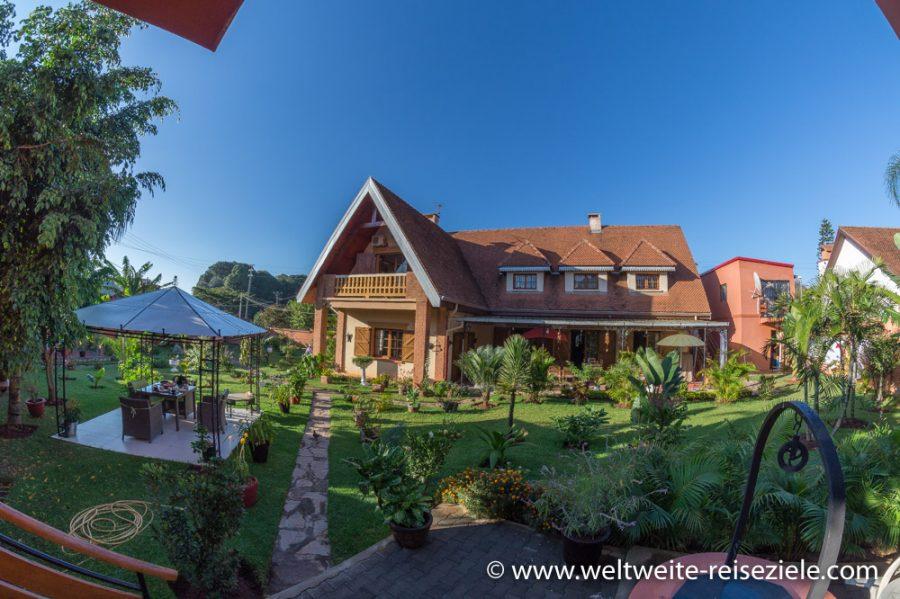 Unser 1. Hotel in Antananarivo in der Nähe vom Flughafen, Madagaskar