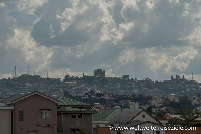 Hügel mit Königspalast von Antananarivo.