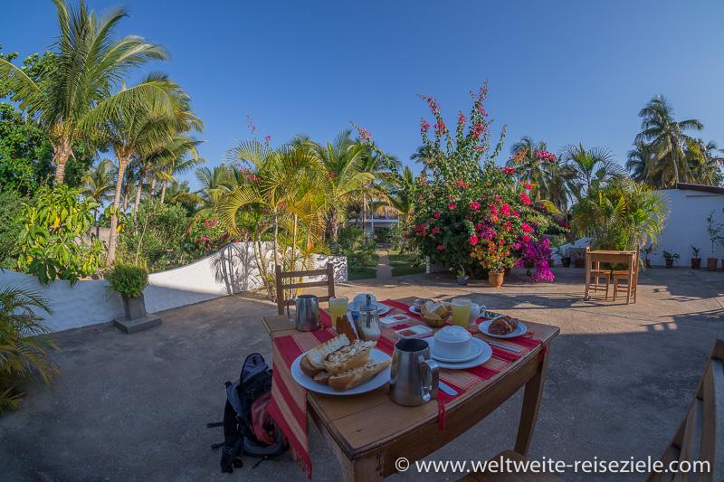 Frühstück Hotel Sun Beach Morondava