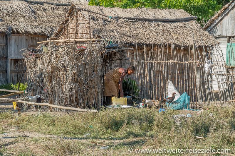 Einfache Hütte der einheimischen Fischer, Betania