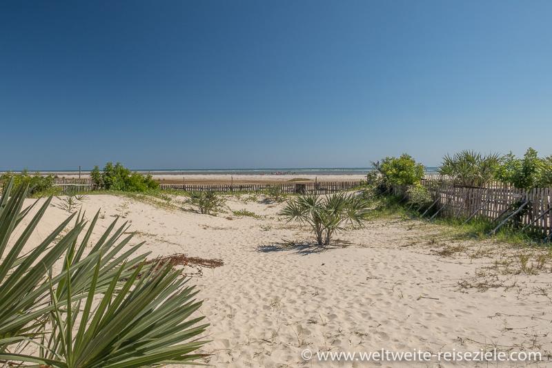 Blick zum Strand von Morondava