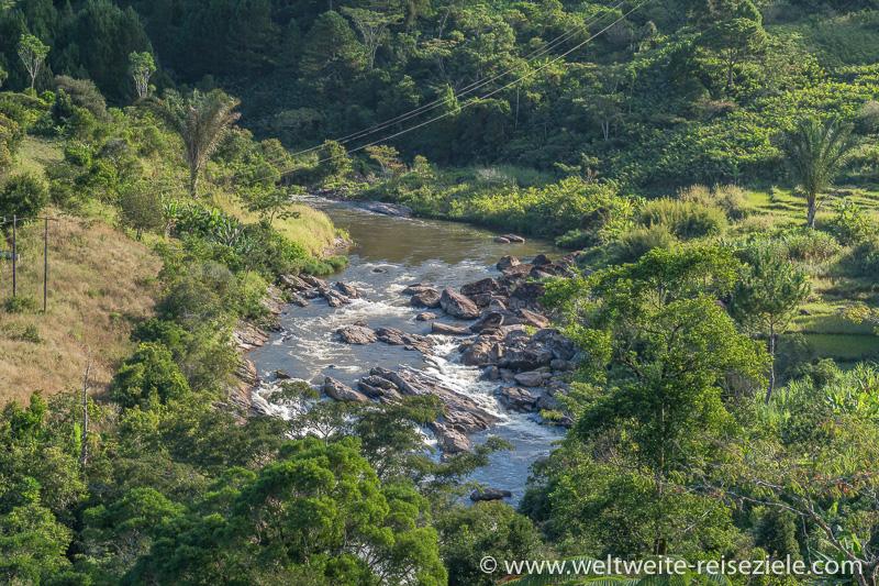 Fluss Ranomafana, Madagaskar südöstliches Zentrum