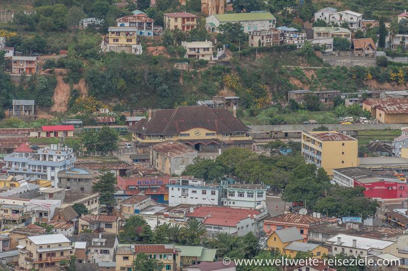 Blick auf den Bahnhof von Fianarantsoa, Madagaskar