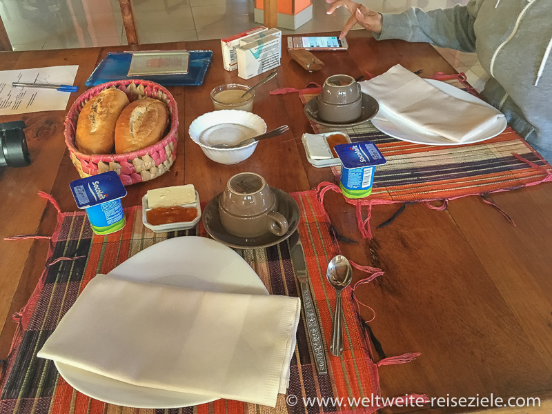 Frühstück Hotel Tsienimparihy Lodge