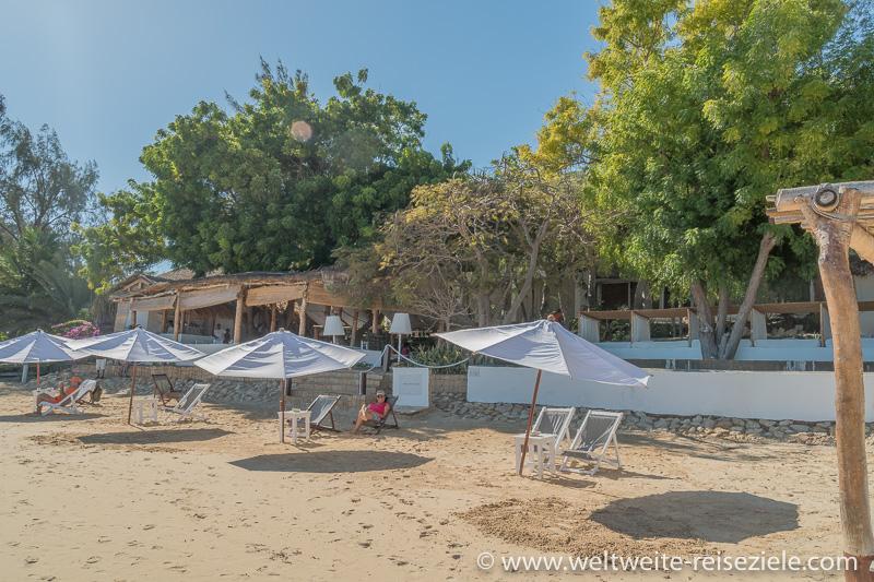 Strandbereich vor dem Hotel Princesse du Lagon, Mangily