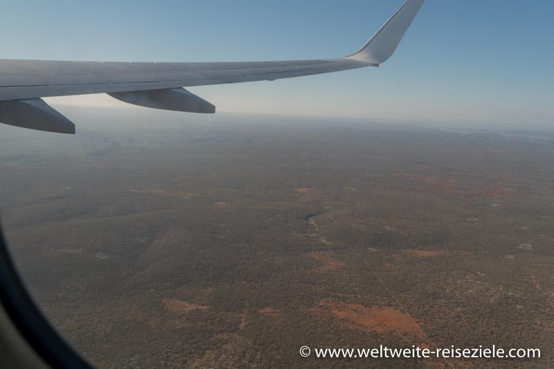 Buschwald vom Südwesten von Madagaskar aus dem Flugzeug aus fotografiert.