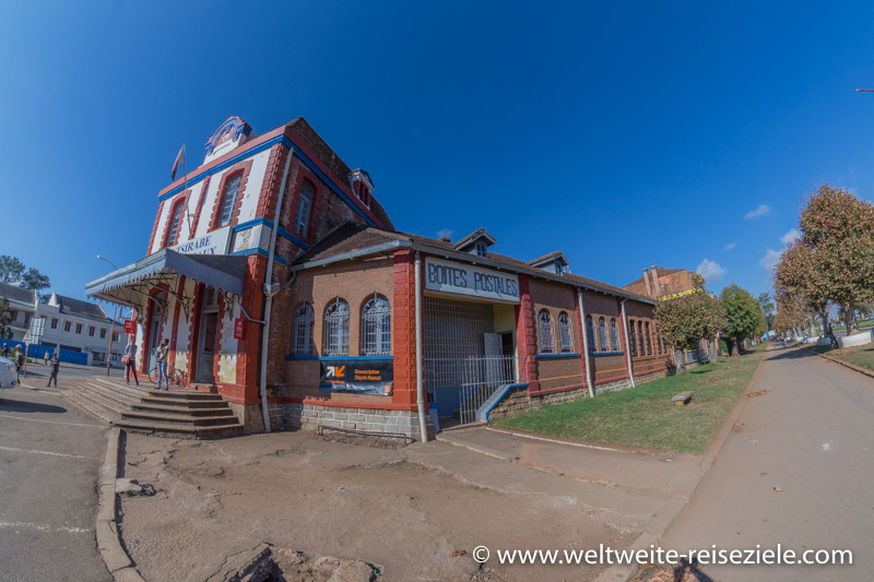 Koloniales Gebäude, Post von Antsirabe, Madagaskar