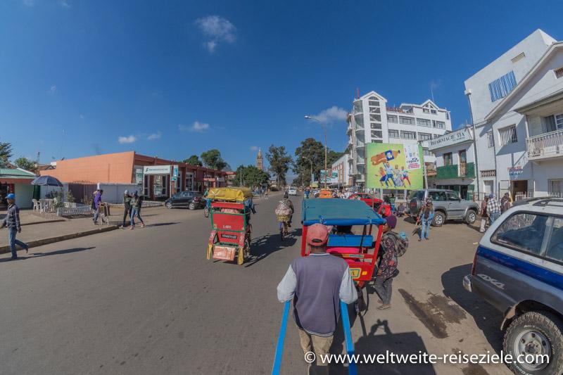 Fahrt mit der Rikscha durch Antsirabe