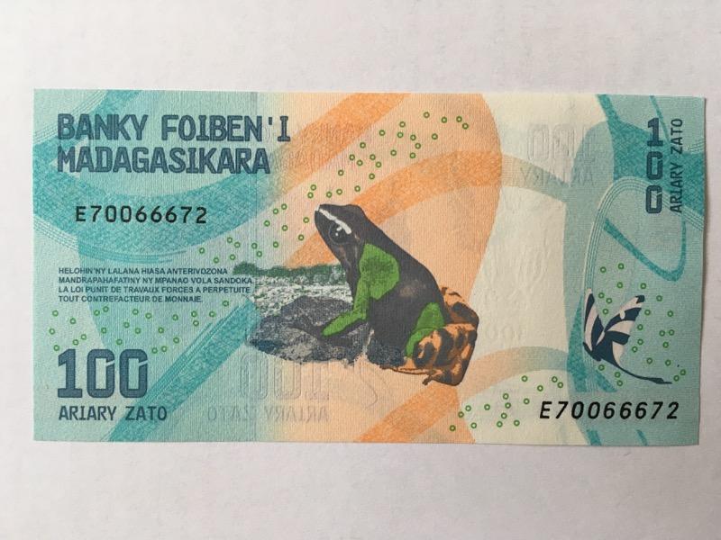 100 Ariary Schein, Madagaskar