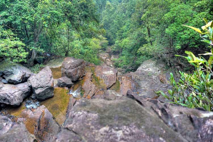 Endau Rompin Wasserfall von oben