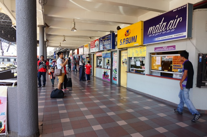 Kuala Terengganu Schalter am Busbahnhof