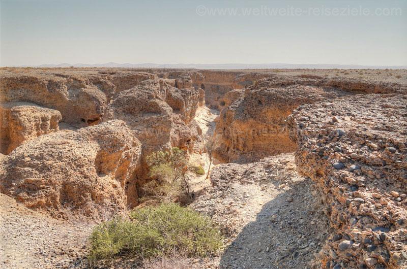 Blick von oben in den Sesriem Canyon