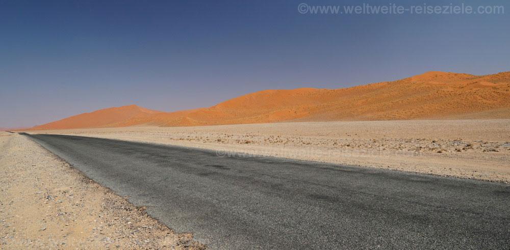 Die ersten Dünen, nödlich der Strasse von Sesriem nach Sossusvlei