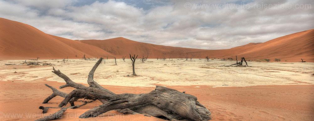 Deadvlei mit toten Bäumen im Hintergrund Big Daddy, Namibia