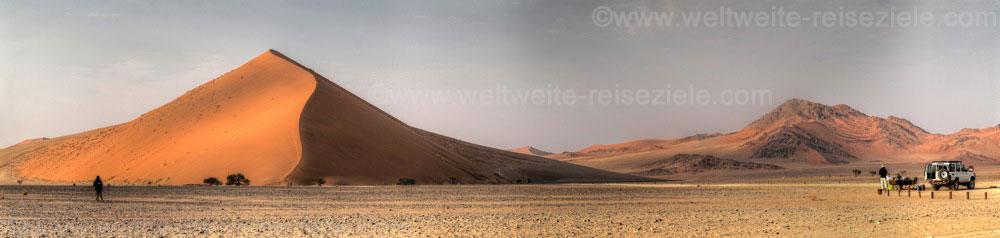 Frühstück vor der Düne 40, Sossusvlei, Namibia