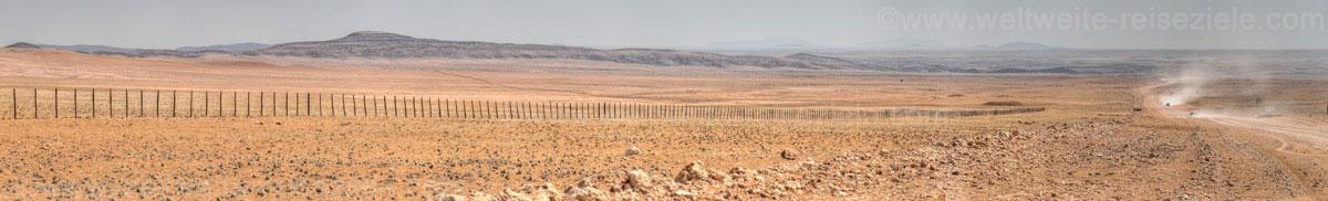 Landschaft zwischen Solitäire und dem Gaub Pass