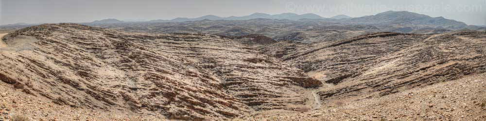 Felsbänder beim Kuiseb Canyon