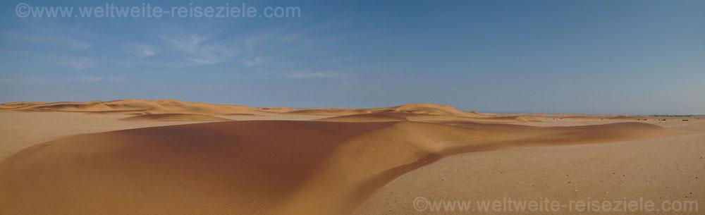 Sanddünen in verschiedenen Farben