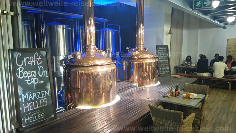 Brauerei Anlage im Restaurant Bakers and Butchers, Namibia