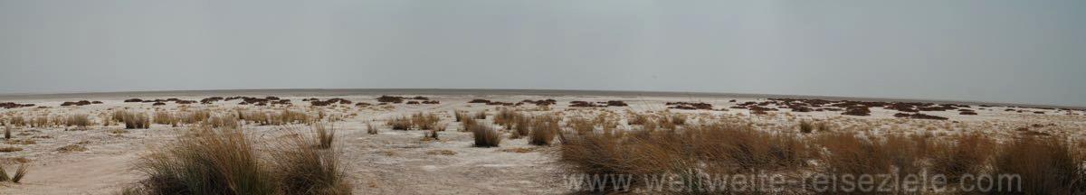 """Etoscha Pfanne aufgenommen vom """"Pan"""" Aussichtspunkt, Etosha Nationalpark"""