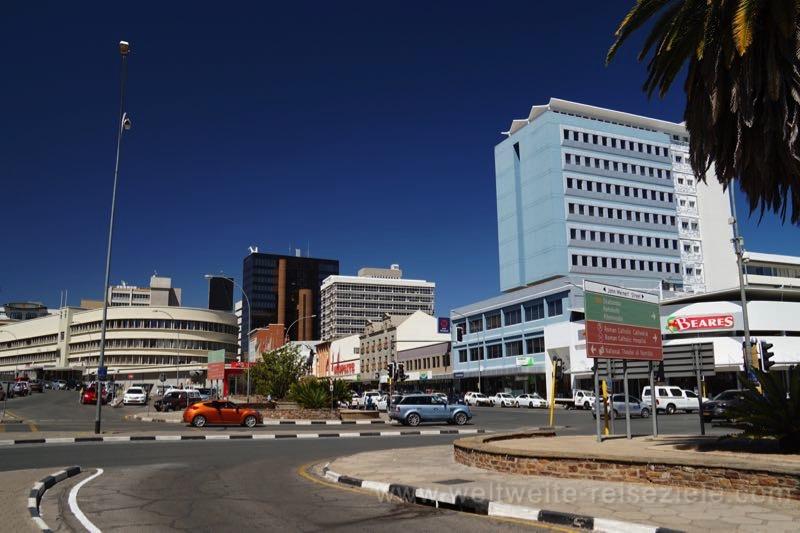 Hochhäuser im Stadtzentrum von Windhoek, Downtown