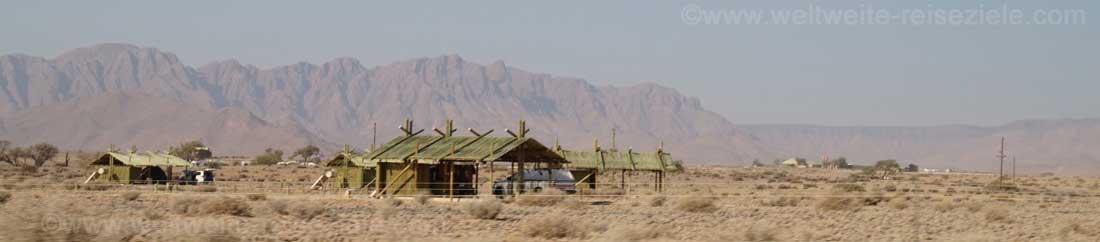 Camp zum Zelten, Camping am Eingang zum Nationalpark von Sossus Vlei, Sesriem