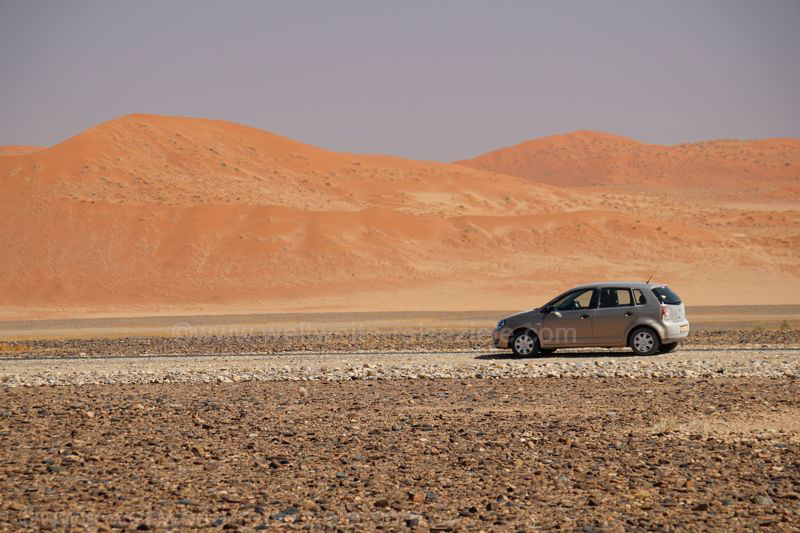 Unser Polo bei der Namibia Rundreise